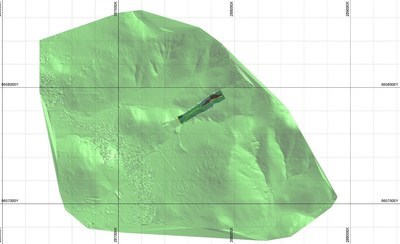 Figure 3. Image showing results of the UAV survey and underground workings. (CNW Group/Altiplano Minerals)