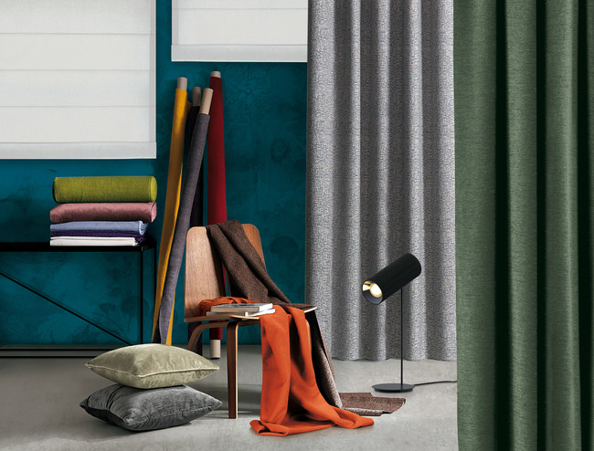Snowsound acoustic fiber is available in 41 texture/color combinations.