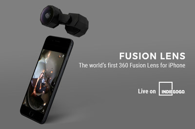 Capture 360 with iPhone cameras - Fusion Lens is available on Indiegogo