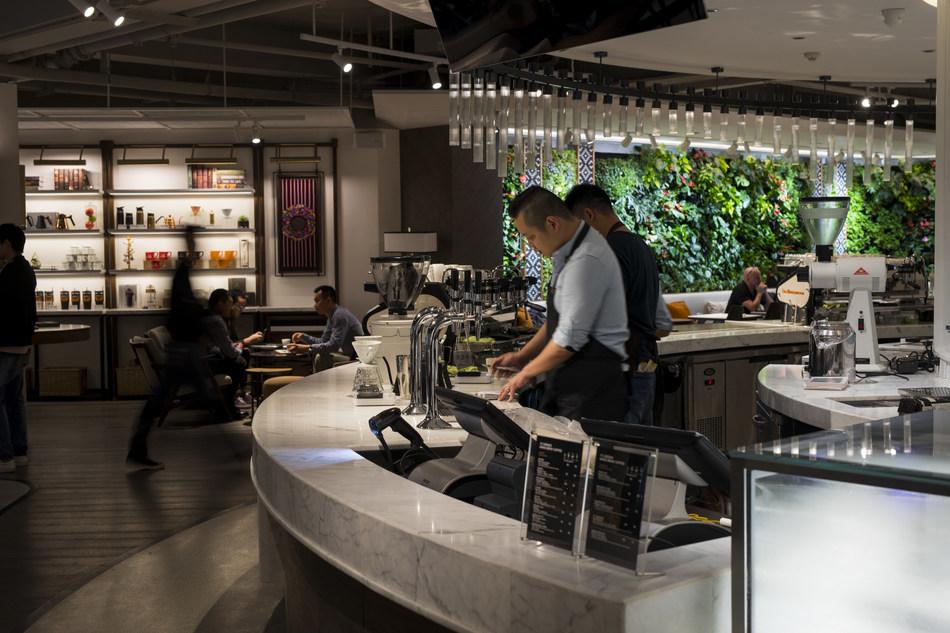 Peet's Coffee Shanghai, China Flagship Coffeebar situated at 9 Donghu Lu