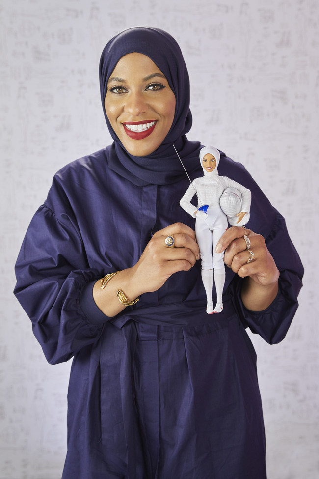 Barbie® honors Ibtihaj Muhammad as a Barbie Shero with one-of-a-kind doll in her likeness at the Glamour Women Of The Year LIVE Summit