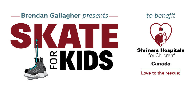 """Join us for the Opening Ceremony of """"Brendan Gallagher presents Skate for Kids"""" (CNW Group/Shriners Hospitals For Children)"""