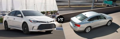 The 2018 Toyota Avalon vs. the 2018 Chevrolet Impala, which one will come out on top?