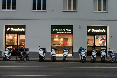 Domino's has opened its first store in Austria with the promise of hot, delicious pizza for the residents of Vienna.