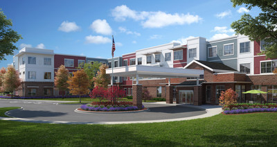 Artist rendering of The Sheridan at Bethel Park assisted living and memory care community