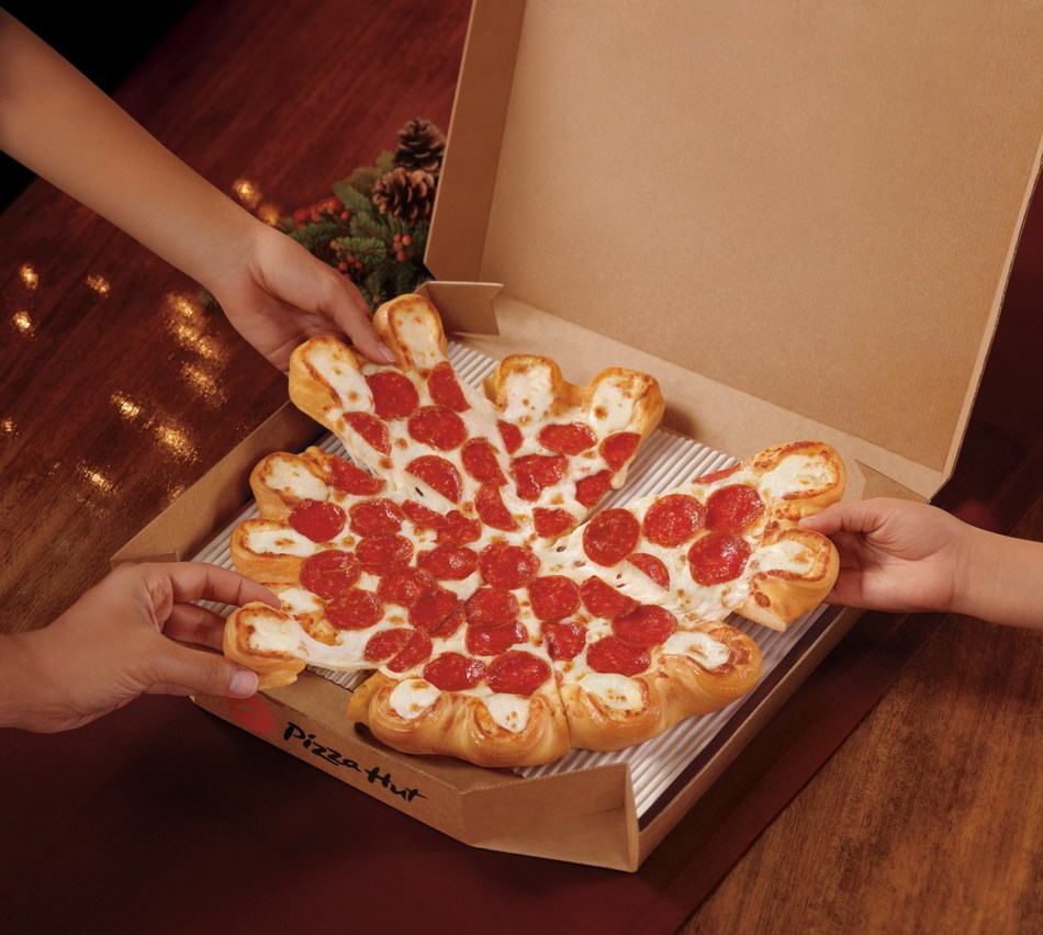 Pizza Hut launches the Ultimate Cheesy Crust Pizza, a large 1-topping pizza with 16 pockets overflowing with a 5-cheese blend of Mozzarella, Provolone, White Cheddar, Asiago and Fontina. The Ultimate Cheesy Crust Pizza is available now for delivery, carryout or dine-in at Pizza Hut restaurants nationwide.