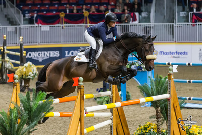Four-time U.S. Olympic medalist Beezie Madden claimed the $50,000 Weston Canadian Open riding Breitling LS on Friday, November 10, at the CSI4*-W Royal Horse Show in Toronto, ON. Photo by Ben Radvanyi Photography (CNW Group/Royal Agricultural Winter Fair)