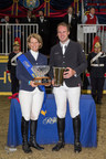 Hardin Towell and Beezie Madden, both of the United States, tied for the Leading International Rider title at the conclusion of the CSI4*-W Royal Horse Show in Toronto, ON. Photo by Ben Radvanyi Photography (CNW Group/Royal Agricultural Winter Fair)