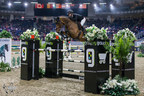 Nicole Walker of Aurora, ON, won the Alfred Rogers Uplands Under 25 National Championship riding Excellent B after first and second-place finishes in the two-phase event at the Royal Horse Show in Toronto, ON. Photo by Ben Radvanyi Photography (CNW Group/Royal Agricultural Winter Fair)