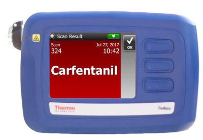 As part of the latest software update the Thermo Scientific Tru Narc handheld analyzer adds 45 substances including carfentanil to its onboard library