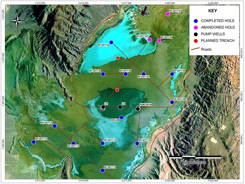Map 1- Salar de Pozuelos drill and pump well hole locations (CNW Group/LSC Lithium Corporation)