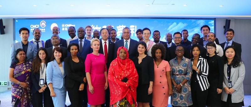 Trainees attended C Blue's closing ceremony on November 10th at the CMPort Plaza upon completion of the program, along with Mr. Mbelwa Kairuki (Tanzanian Ambassador to China) and Mr. Karunasena Kodituwakku (Sri Lanka Ambassador to China).