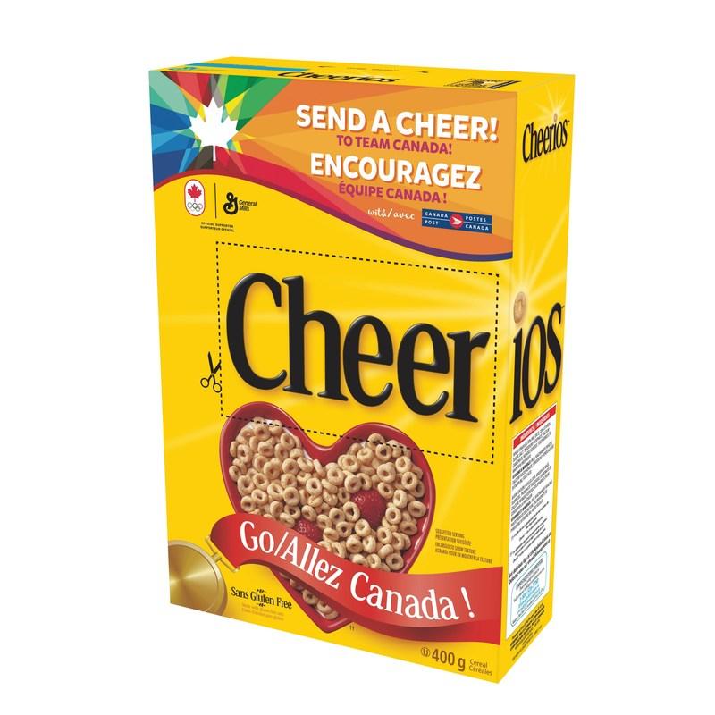 Cheerios aide les canadiens à encourager les athlètes de tout leur cœur (Groupe CNW/General Mills Canada)