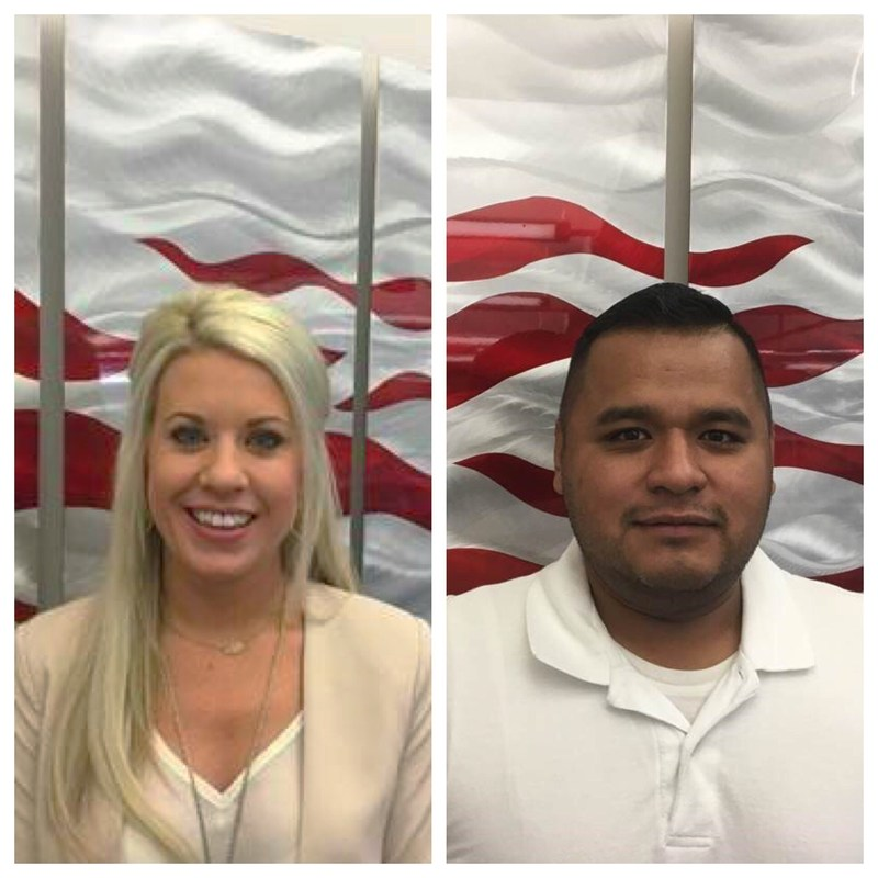 Ashley Whitehead and Carlos Mero