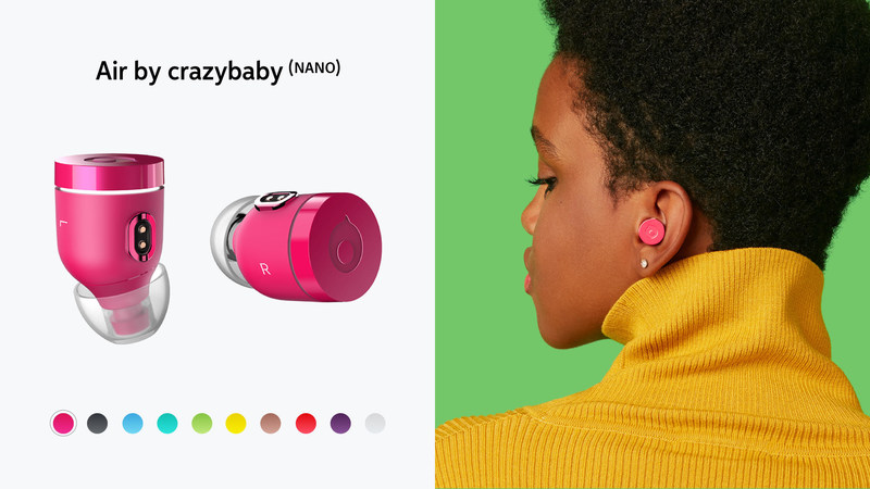 Air by crazybaby (NANO) available now in ten colors.
