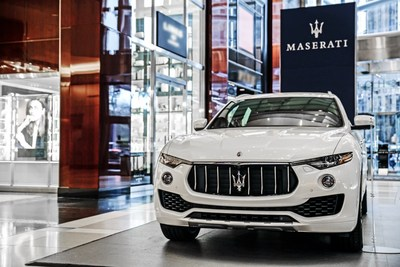 Maserati Joins Holiday Festivities In New York City With Levante SUV Display At The Shops At Columbus Circle