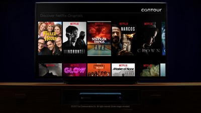 The Contour interface with Netflix