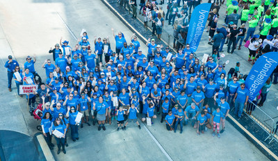 LyondellBasell employees, contractors and their families eagerly await the start of The University of Texas MD Anderson Cancer Center's second annual Boot Walk to End Cancer®. One hundred percent of funds raised go directly to support cancer research, diagnosis and care.