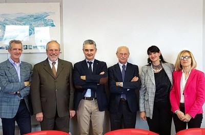 Il neoeletto comitato Scientifico dell'Istituto Nutrizionale Carapelli presenta i primi progetti scientifici al Presidente, Pierluigi Tosato