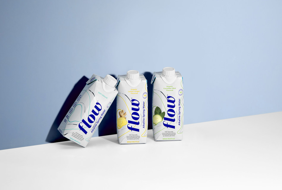 Naturally alkaline spring water brand, Flow Water, introduces first to market 100 percent natural organic flavour spring water. (CNW Group/Flow Water Inc.)