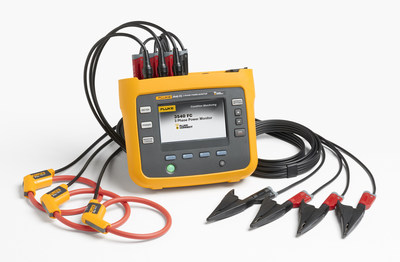 The compact Fluke 3540 FC monitors three-phase systems and streams data to the Fluke Connect Cloud. The measurement data is available on any connected device using Fluke Connect mobile app or Fluke Connect Condition Monitoring software.