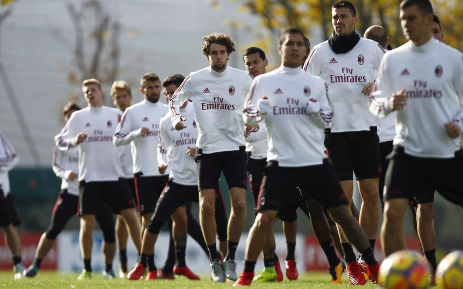Photo LaPresse, November 10, 2017 Varese (Italy), A.C. Milan - season 2017-2018 - training session (PRNewsfoto/Lapresse)