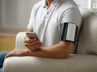 Monitoring your blood pressure regularly is easy with highly accurate devices designed for at-home use. The Omron EVOLV® wireless upper arm device syncs to your smartphone via the Omron Connect US app, so data can be stored, tracked and shared with your doctor.