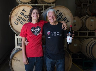 Colby Groom with Daryl Groom Owner/Winemaker Colby Red Wine SUPPORTING CHARITIES THAT PROMOTE HEART HEALTH