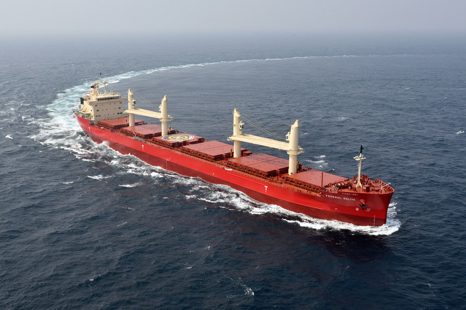 The Federal Biscay is one of Fednav's vessels that have received the CLEAN notation from DNV/GL (CNW Group/Fednav Ltd.)