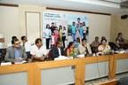 (L to R) Melvin D'Souza, MD Novo Noridsk India, Dr Bharti Shankar Chairperson Karnataka State Women's Development Corporation, Anil Kumble, Dr Shaila Bhattacharya, Paediatric Endocrinologist (PRNewsfoto/Novo Nordisk)