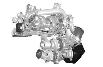 BorgWarner's efficient cutting-edge R2S® boosting system with four turbochargers delivers exceptional performance and contributes to improved fuel efficiency by up to 4 percent in the BMW Group's new high-end 3.0-liter diesel engine.