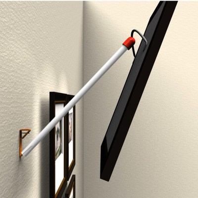 Hangeroo® guides make it quick and easy to hang wired picture frames onto conventional metal picture hooks in just a few simple steps.