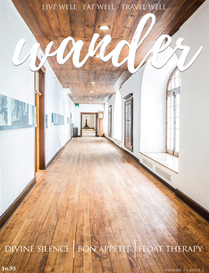 Get inspired to connect within and nourish mind, body & soul through slow food, soulful retreats, holistic wellness, & flotation therapy. Cozy up and enjoy. (CNW Group/Wander Magazine)