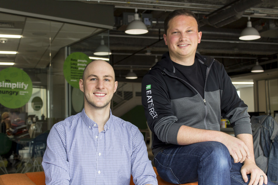EatStreet co-founders, Alex Wyler (CTO) and Matt Howard (CEO)
