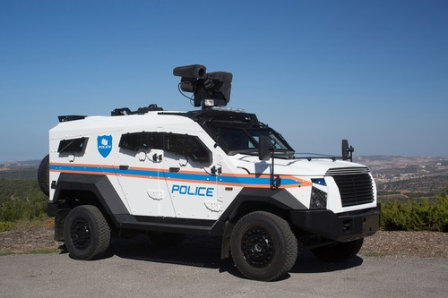 SandCat Stormer equipped with SCAT  - Riot Control System (PRNewsfoto/Plasan)