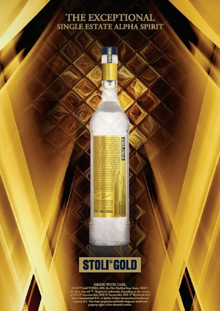 Stoli(R) Vodka today announced an updated production process, along with a redesigned bottle and label, for its super-premium offering, Stoli Gold, a Single Estate Alpha Spirit.