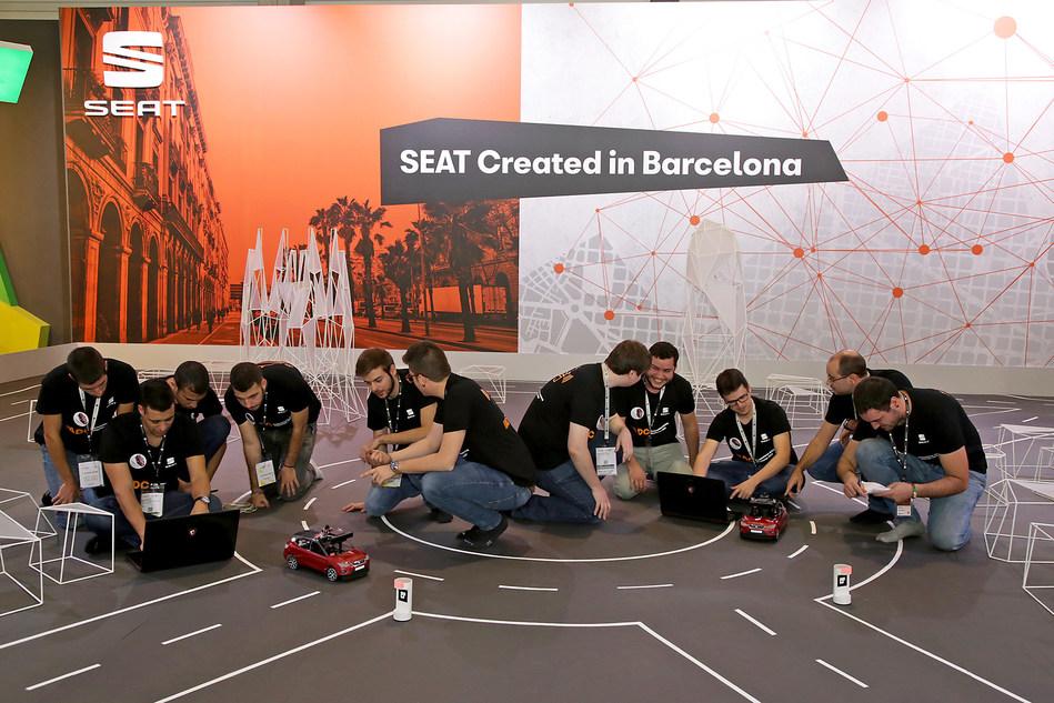 50 students from 9 Spanish universities have developed scale autonomous vehicles for the Autonomous Driving Challenge (PRNewsfoto/SEAT SA)