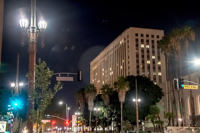 Amerlux has been granted U.S. patent protection for its intellectual property that is incorporated into its innovative Avista LED light engine, shown here as part of downtown Los Angeles' upgrade, which saves the city 75% annually in energy consumption.