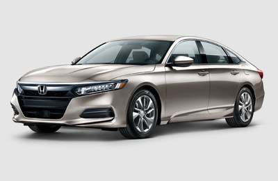exterior view of the 2018 Honda Accord, one of the vehicles that is part of the Happy Honda Days sales event