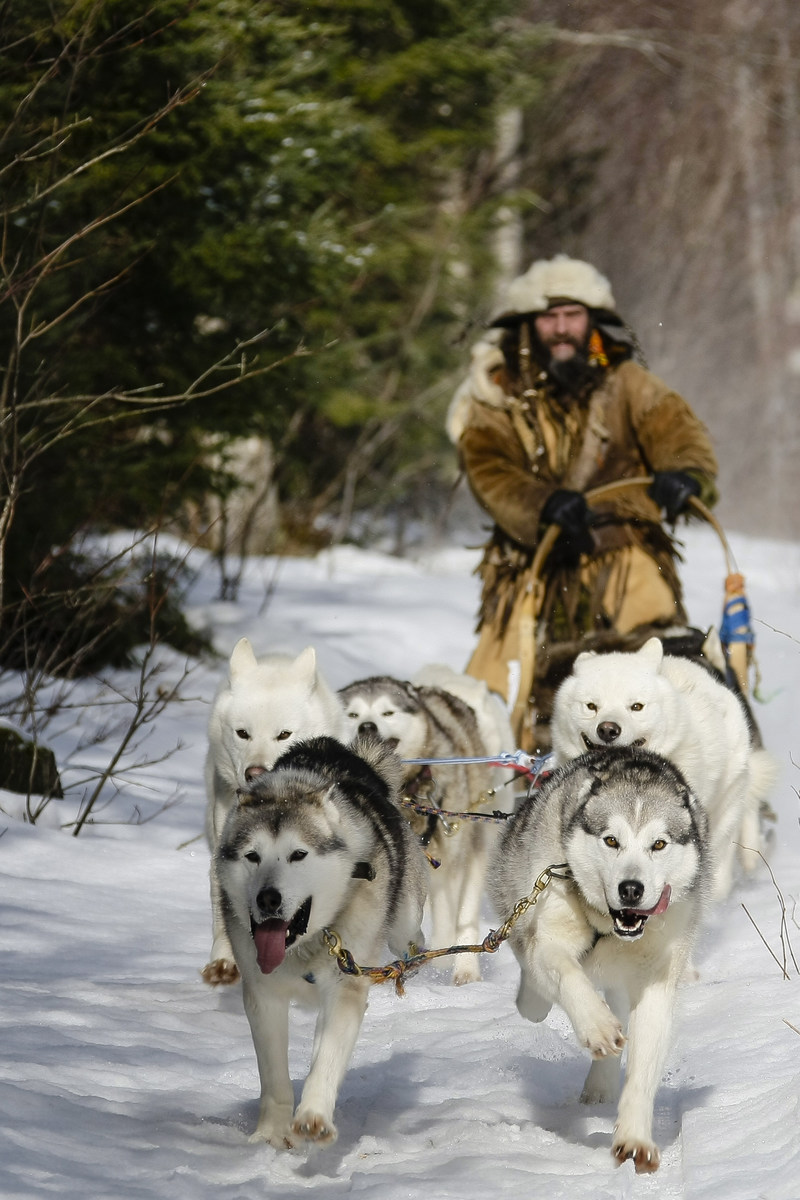 """Manoir Hovey, a refined Relais & Chateaux retreat in Quebec, is adding dog sledding to its winter adventure offerings this season. The adrenaline-pumping activity is in partnership with Mohigan Adventures and offers guests an hour-long dog sledding experience as part of a three-night """"Winter Your Way"""" package."""