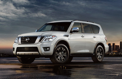 Exterior view of the 2018 Nissan Armada, which is part of the specials being offered.