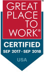 Endurance International Group certified 2017-2018 Great Place To Work