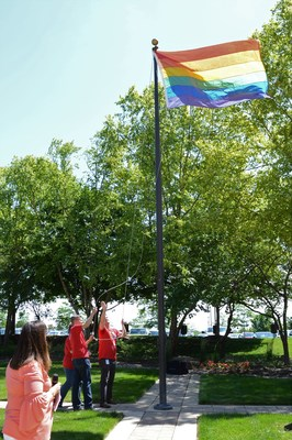 Members of the Equality Network raise the flag to celebrate Pride Month and reaffirm Cardinal Health's commitment to valuing diversity and inclusion.