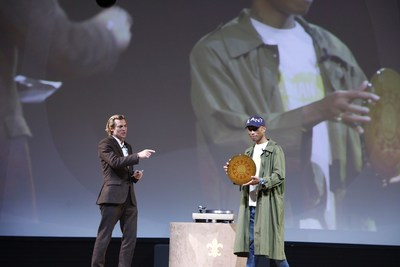 Pharrell Williams & Ludovic du Plessis Global Executive Director of Louis XIII (PRNewsfoto/LOUIS XIII Cognac)