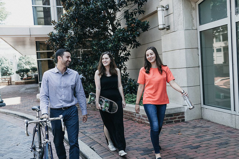 Silverback Strategies' Robbie Edmonds, Meredith Keller and Amy Goffe take advantage of our Old Town Alexandria location while taking a mid-day break.