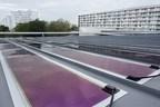 Heliatek's HeliaSol on a standing seam roof system in La Rochelle, France (PRNewsfoto/Heliatek)