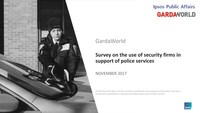 Survey on the use of security firms in support of police services (CNW Group/Groupe de sécurité GardaWorld Inc.)
