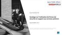 Sondage sur l'utilisation de firmes de sécurité en support aux services policiers (Groupe CNW/Groupe de sécurité GardaWorld Inc.)