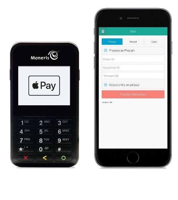 L'application PAYD Pro qui fonctionne sur un iPad jumelé avec le clavier NIP mobile e355 de Verifone. (Groupe CNW/Moneris)