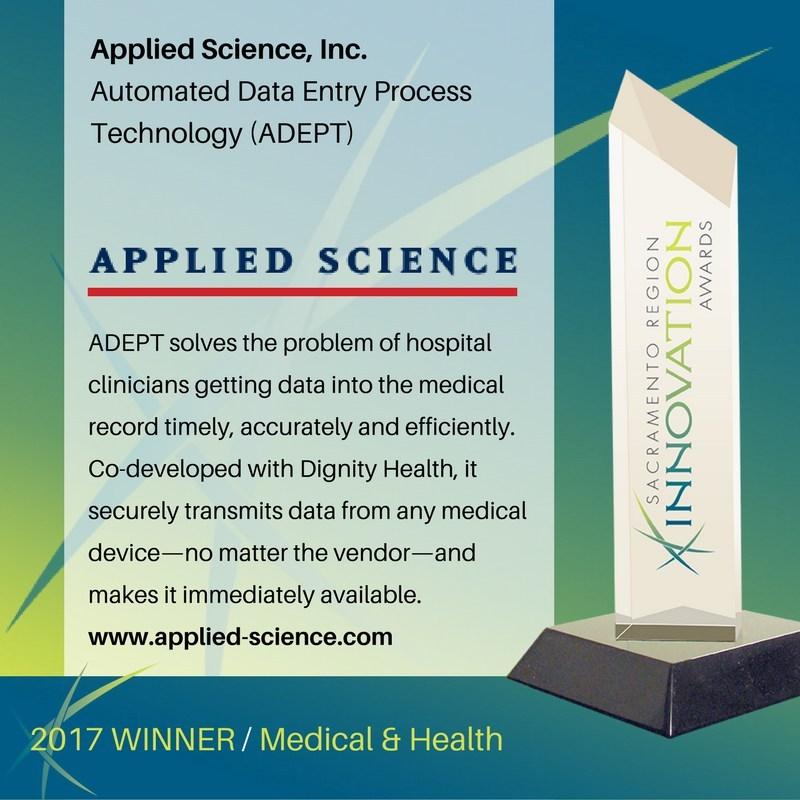 Sacramento Region Innovation Awards winner in the Medical and Health category
